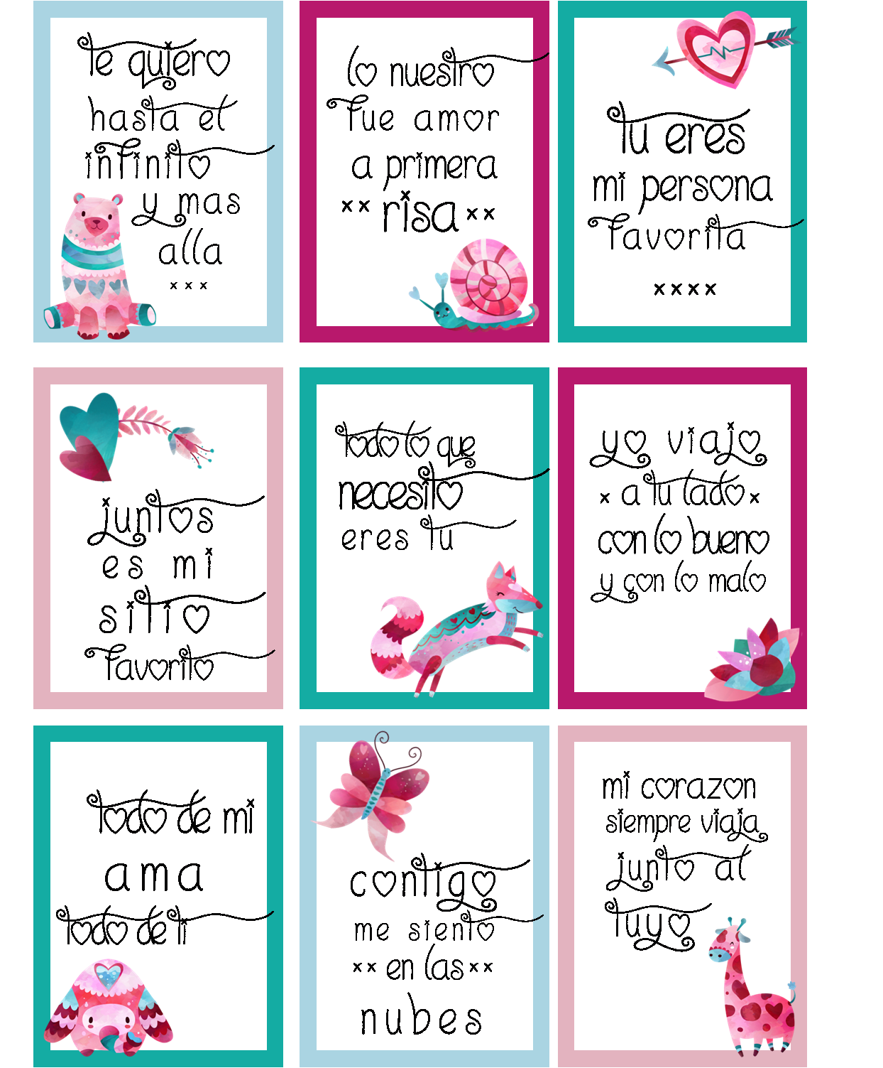 Pegatinas imprimibles San Valentin. - Sweet dreams of scrap