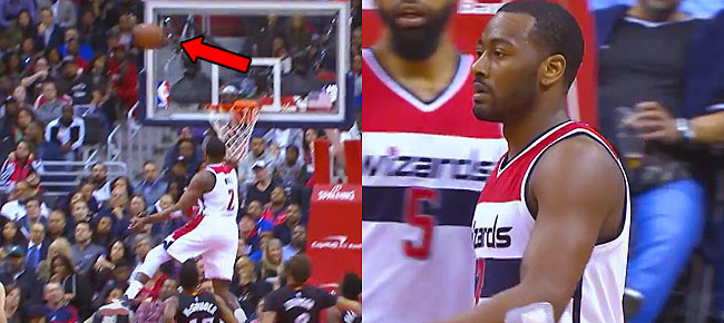 John Wall Swats The Shot Off The Backboard And Out Of Bounds! (VIDEO)