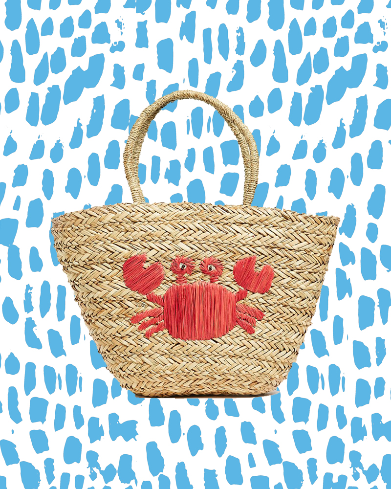 hat attack majestic bag, ss18, trends, fashion, lobster, crab, under the sea, crustaceans, basket bag,
