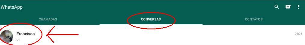 Como ver uma conversa no WhatsApp