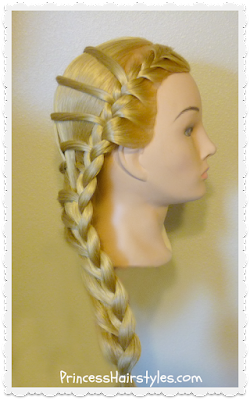 Easy video tutorial, the step ladder braid hairstyle.