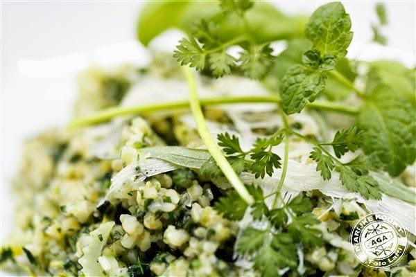 Risotto van bulgur met groene kruiden