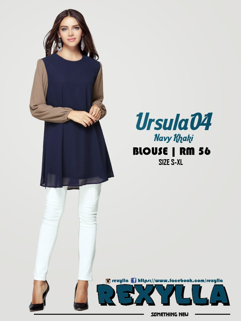 rexylla, blouse, joint colour, ursula04, navy khaki