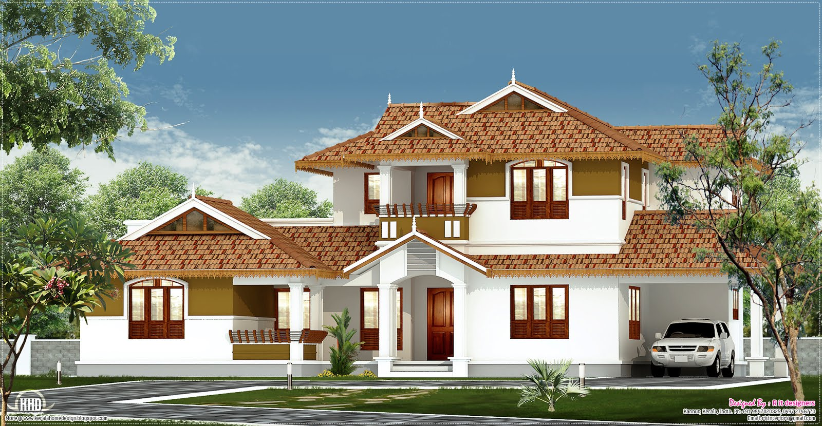 2200 square feet home design kerala home design and for Square house design