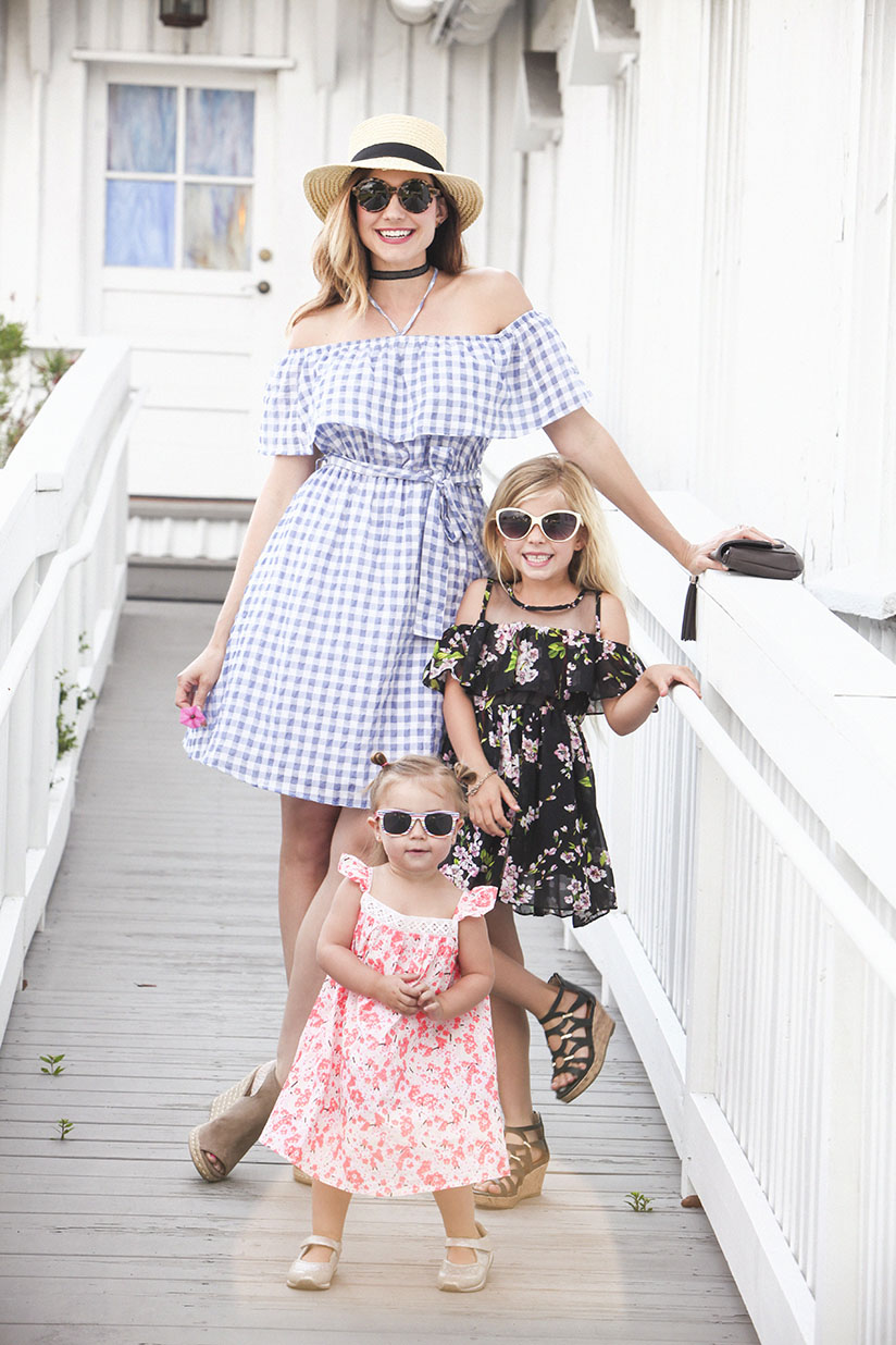Amy West and daughters are ready for Easter in their spring dresses