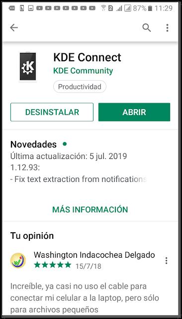 Instalar KDE Connect para enviar archivos desde Android a Linux y viceversa desde Nautilus, Nemo, Caja y Dolphin