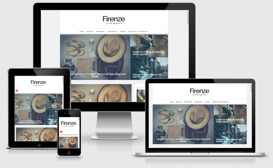 Firenze - Responsive News and Magazine Blogger Template