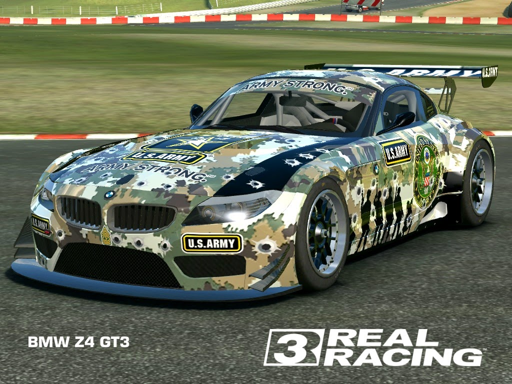 real racing 3 mod skin livery vinly 2010 bmw z4 gt3 us army z4 gt3 by tanto arc. Black Bedroom Furniture Sets. Home Design Ideas