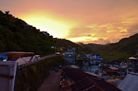 Poblacion Ifugao Golden Sunset Going to Poblacion Public Market