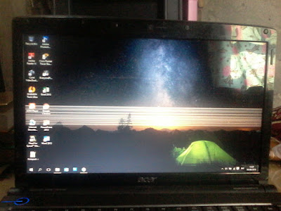 Cara memperbaiki layar laptop bergaris