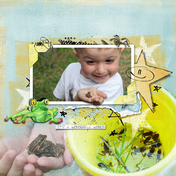 clindoeildesign dawn Inskip no worms allowed scrap digital happy colored