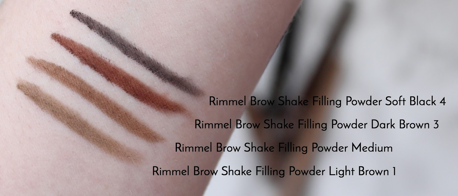 Rimmel Brow Shake Filling Powder | Review & Swatches