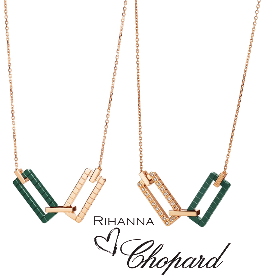Rihanna Loves Chopard Necklaces (sold separately)
