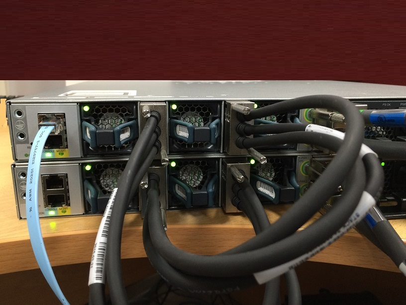 it network infrastructure  stacking 3850 switch