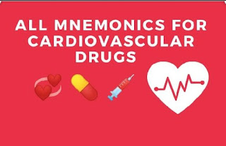 all cardiovascular drugs mnemonics