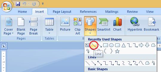 cara membuat garis horizontal di word