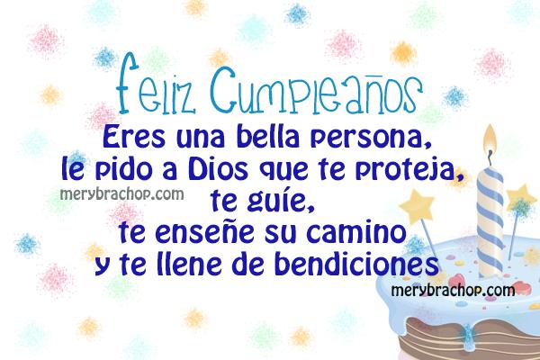 imagen tarjeta con frases cristianas mensajes de cumpleaños por Mery Bracho