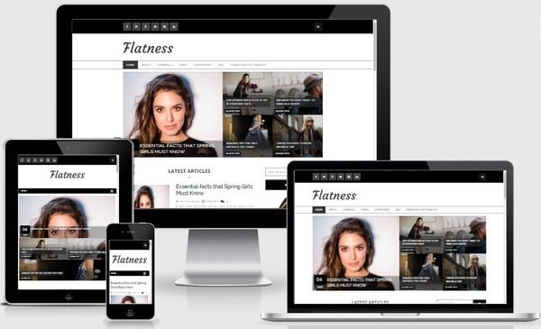 Flatness Responsive Blogger Templates