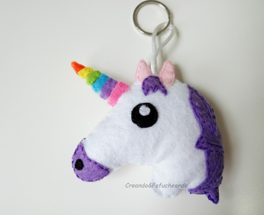llavero-de-unicornio-en-fieltro-creandoyfofucheando