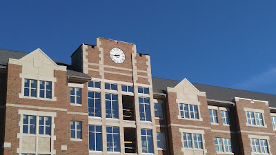 Clock tower on Andrews Hall