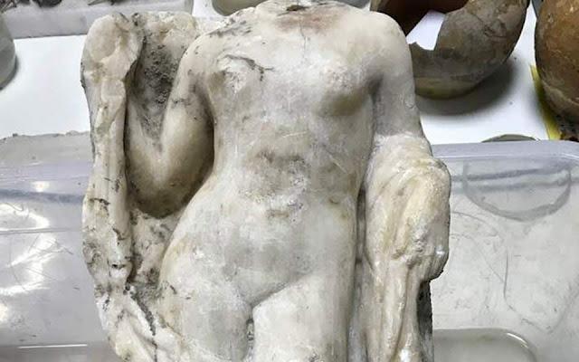 Aphrodite statue found during Metro excavation works in Thessaloniki