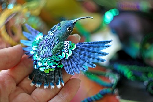 broszki ptaki diy i film