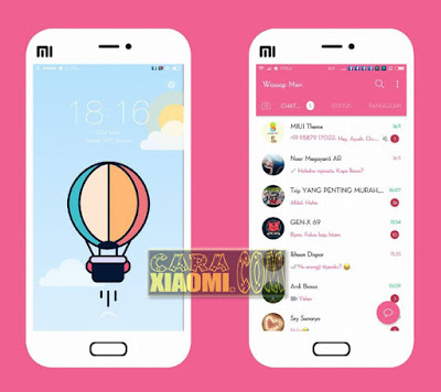 Screenshoot Theme MIUI Selayar Pinky V2 Mtz For Android Xiaomi Terbaru: