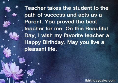 100+ Best Happy Birthday Wishes to Teacher (2019) - Messages