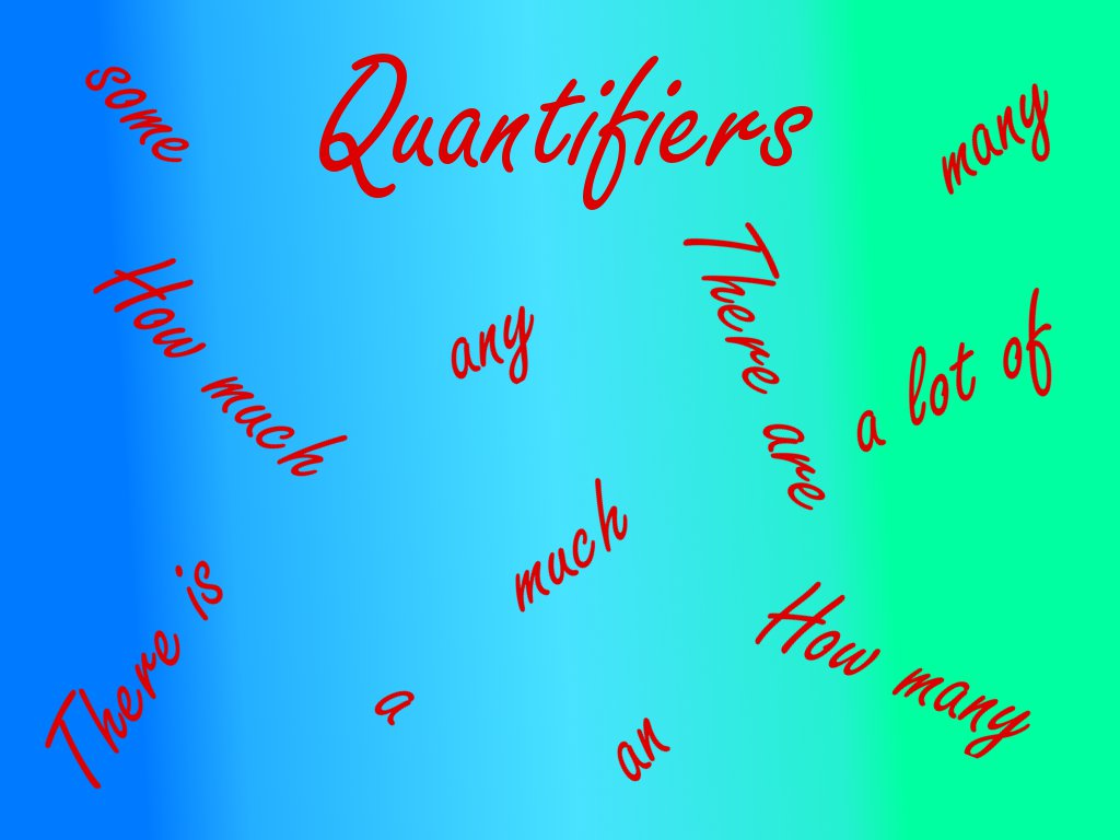 English Grammar Quantifiers