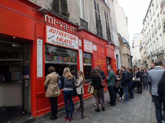 Falafel rue des Rosiers, Le Marais París