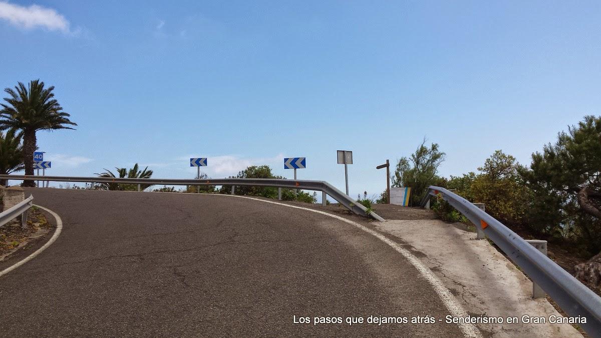Inicio camino borde de la Caldera de Bandama