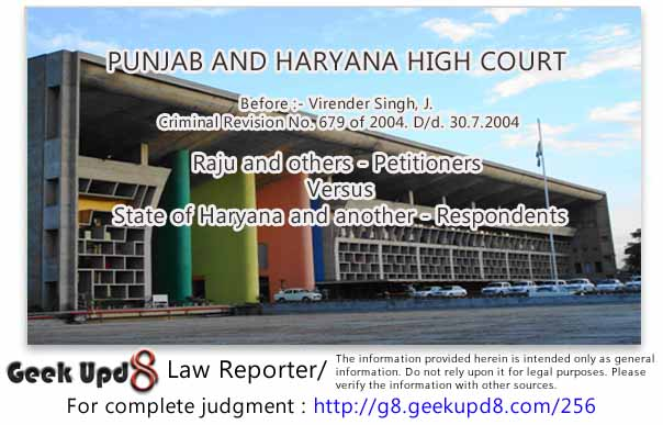 Punjab and Haryana High Court - Juvenile Justice (Care and Protection of Children) Act, 2000 - Court has power under Section 319 Cr.P.C. to summon a person as accused who may be even juvenile but Court cannot order his joint trial with an accused who is not a juvenile