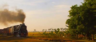 Steam Train in upper Myanmar