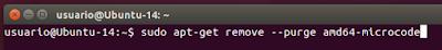 sudo apt-get remove --purge amd64-microcode