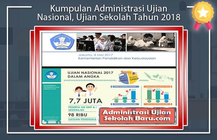 Kumpulan Administrasi Ujian Nasional, Ujian Sekolah Tahun 2018