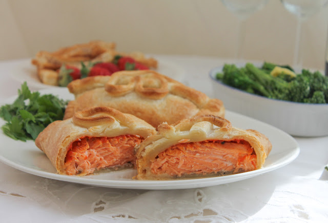 Peppadew Trout en Croûte: Peppadew peppers and garlic add a lovely fresh flavor that complements the richness of the trout and the pastry. #SundaySupper