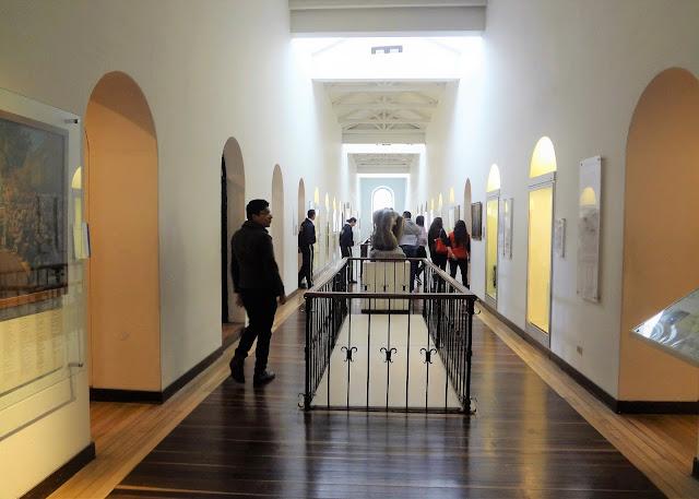 コロンビア国立博物館の館内の廊下(元刑務所)