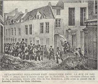 Ontvluchte gevangenen, oog in oog met de Hollanders in de Leuvenstraat