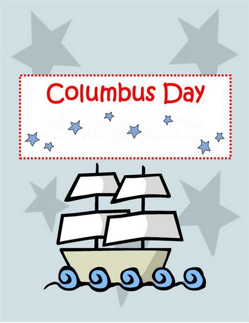Beautiful Celebrate Columbus Day Ecard