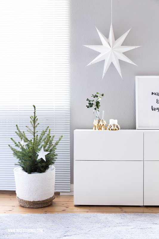 Papierstern Weiss Weihnachtsdeko