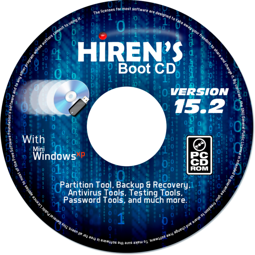 Hiren bootcd download iso in one click. Virus free.