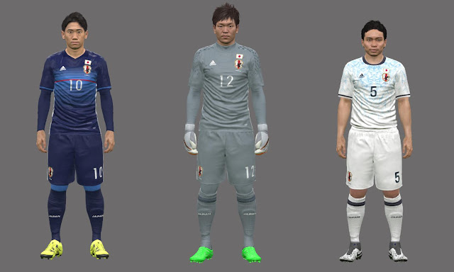 new arrival 05ae6 a2e16 PES 2016 Japan National team kits 2016 - PATCH PES | New ...