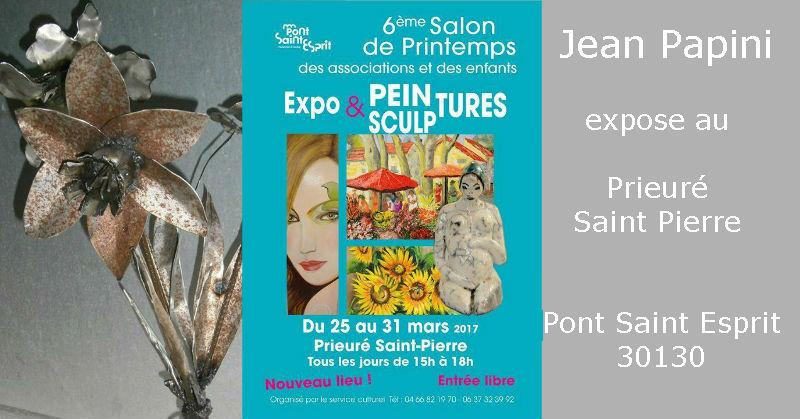 Exposition de Jean Papini au 6ème salon de printemps