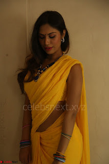 Nishigandha in Yellow backless Strapless Choli and Half Saree Spicy Pics 112.JPG
