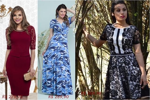 Loja que vende vestidos