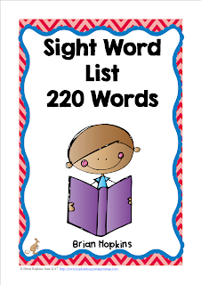 FREEBIE Sight Word List