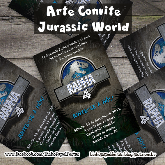 Convite Jurassic World