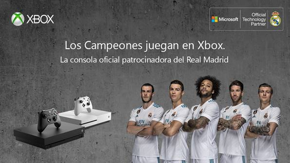 Xbox se convierte en patrocinadora oficial de Real Madrid, lo celebran con un sorteo