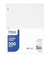 Loose Leaf Paper - Must have law school supplies | brazenandbrunette.com