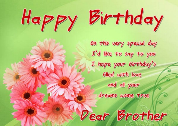 Best Brother Quotes For His Birthday